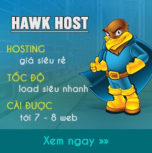 Hawk Host - Hosting tốt nhất mà tôi đang dùng