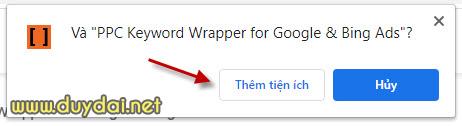 Tiện ích định dạng đối sánh từ khóa Google Ads