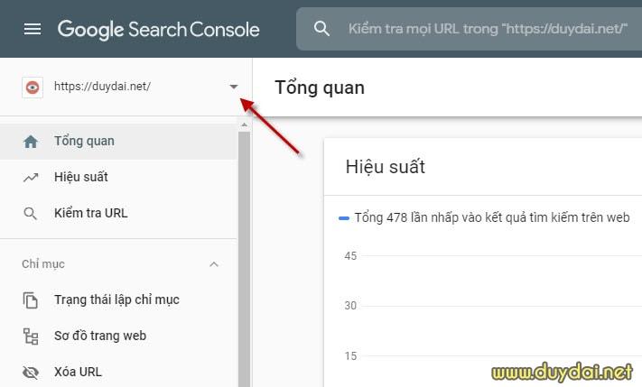 Hướng dẫn khai báo blog wordpress với Google Search Console